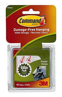 3M 17024-VP Command Poster Strips, 48-Ct. Value Pack