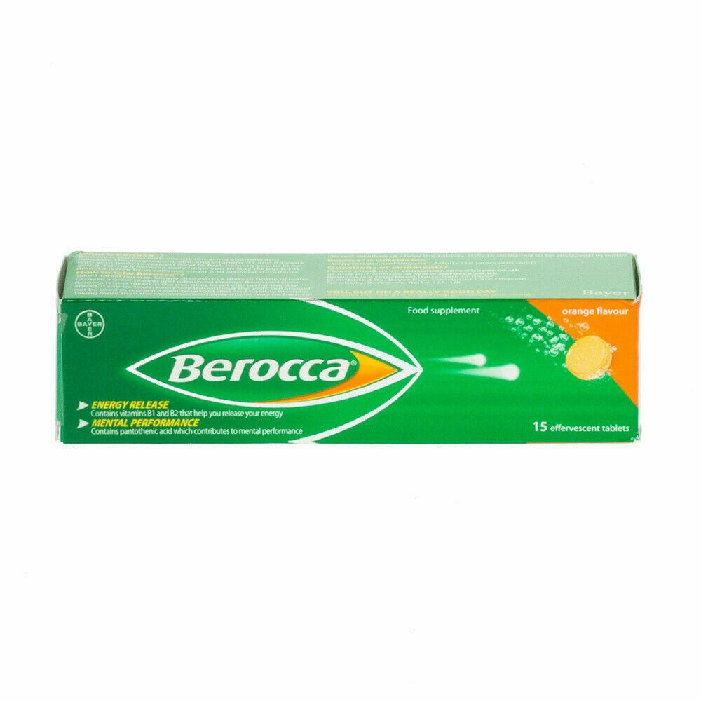 Berocca Orange Energy Vitamin - 15 Tablets x 1