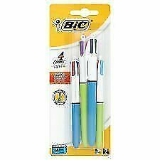 BIC 931818 Ball Pens - Multi-Colour Pack of 4