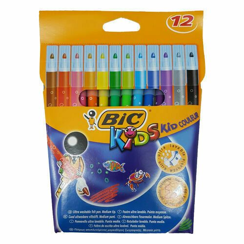 Bic Kids Colour Pens Sketch Pen | 12 Pack | 841243