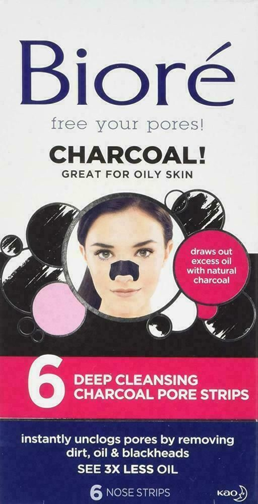 Biore Deep Cleansing Charcoal Pore Strips 6 Pack