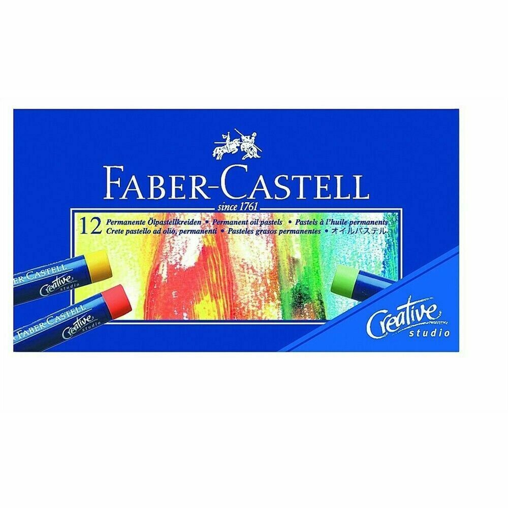 Box Of 12 Creative Studio Oil Pastels - Fabercastell Pastel Set 1270 Crayons