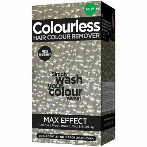 COLOURLESS MAX EFFECT HAIR COLOUR REMOVER REMOVES BLACK BROWN RED & BUILD UP