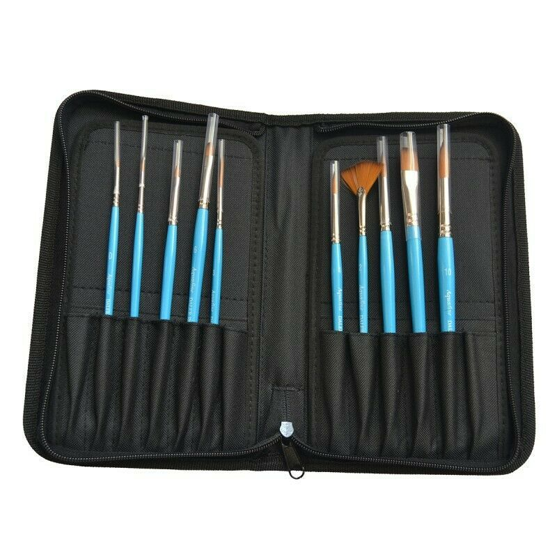 Daler Rowney Aquafine Brush Set - Zip Case 10