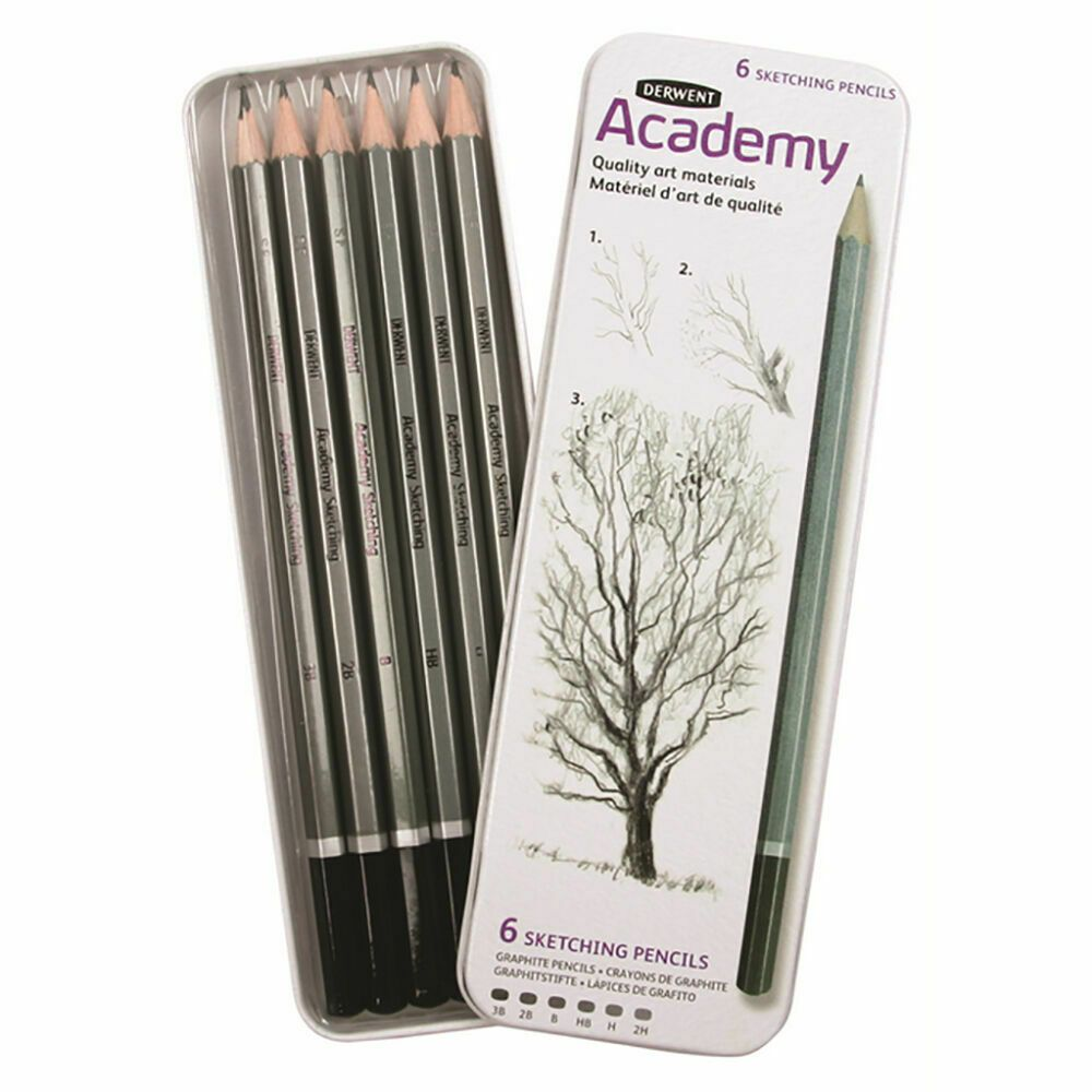 Derwent Academy Sketching Tin Set of 6