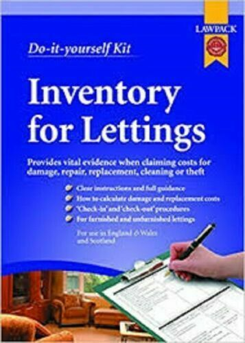 Do-it-yourself Inventory For Lettings Lawpack by Anthony Gold Solicitors and TC