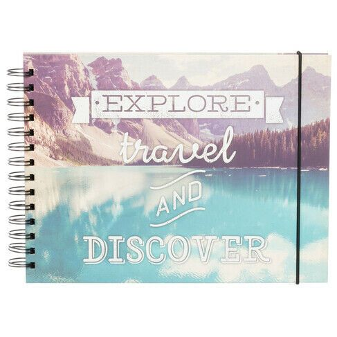 Explore, Travel Landscape Scrapbook Album