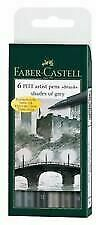 Faber-Castell PITT Artist Brush Pens Set of 6 Shades of Grey