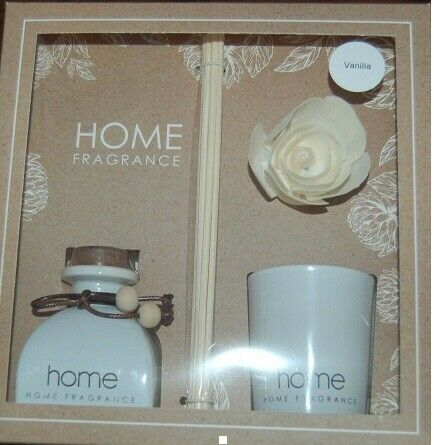 Flora Home Diffuser Candle Gift Set - Vanilla,
