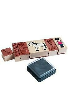 Horse Riding Wooden Stamp Set