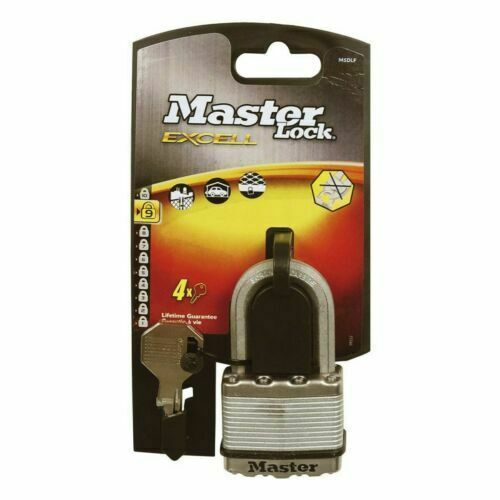 Masterlock M5EURDLF Excell Laminated Steel 50mm Padlock - 38mm Shackle