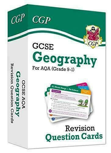 New Grade 9-1 GCSE Geography AQA Revision Question Cards by CGP Books Cards NEW