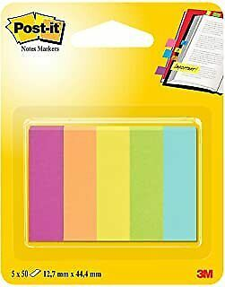 Post-it 12.7 x 44.4 mm Notes Markers Capetown Pads (Pack of 5)
