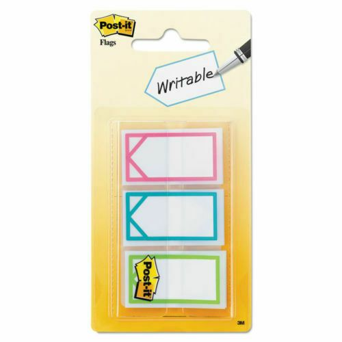 "Post-it Arrow 1"" Page Flags Three Assorted Bright Colors 60/Pack 682ARROW"