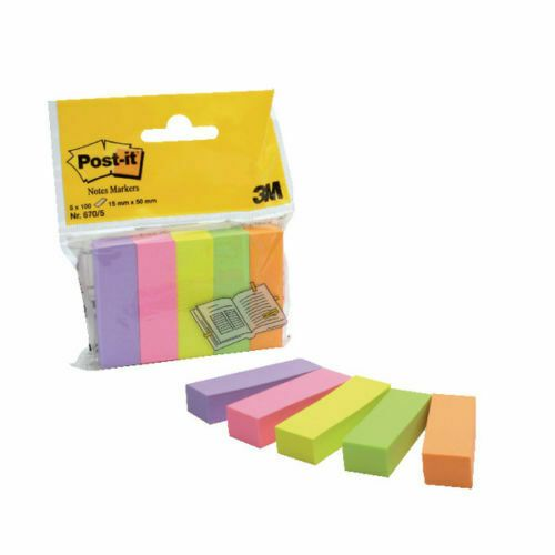 Post-it Assorted Notes Markers (Pack of 500) 670-5