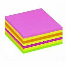 Post-it Notes 76 x 76 mm Sticky Note Cube, Neon 325 Sheets, Rainbow