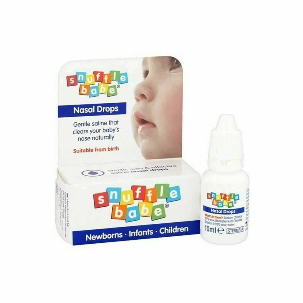 SNUFFLE BABE SALINE NASAL DROPS FOR NEWBORNS, INFANTS, CHILDREN - 10ML