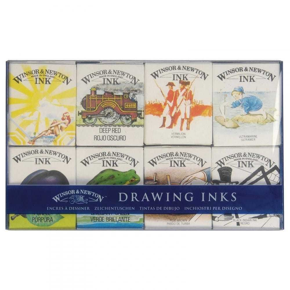 Winsor & Newton Drawing 8 Ink Set William Collection. Artists Colour Inks.