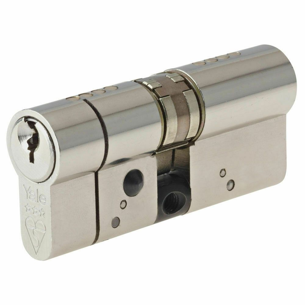 Yale 70mm Nickel Plated Euro Cylinder Lock
